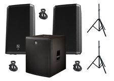 EV Electro-Voice 2x ZLX-15P Active Speakers 1x ELX-118P Powered Sub BUNDLE