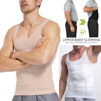 Men's Body Shaper Vest Slimming Shapewear Belly Compression Tank Top Sleeveless