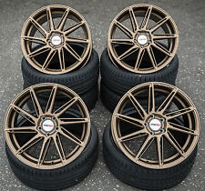 19 Zoll Motec MCT11 Aventus Felgen 5x112 et45 Bronze für GTI R S-Line RS TT S3