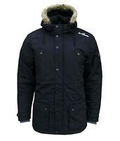 Gio Goi Men's Artisan Parka Winter Padded Hooded Coat Dark Blue