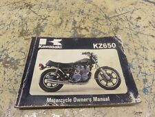KAWASAKI KZ650 OWNERS MANUAL