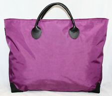 HERVE' CHAPELIER Purple Nylon Tote Black Leather Trim