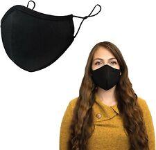 Masques en Coton Noir Lavable en tissu Réutilisable Couvrant les Hommes Femmes