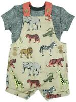 Boys Short Romper T-Shirt Outfit Jungle Animal Toddler Newborn Baby to 3 Years