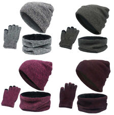 Outflower Womens Scarf Hat /& Glove Set Black Black M