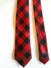 Old Navy - Red Black Geometric - Polyester - Boy'S Neck Tie - Ages 10 - 14 Xl