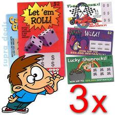 Lot of 3x FAKE LOTTERY TICKETS PRANK JOKE BIG WINNER !!! - $1.00 ONLY !!!