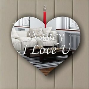 Personalised Hanging Decoration Birthday Wedding Memorial Party Gift HEART