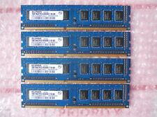 (4) x ELPIDA 1GB 1RX8 PC3-8500U-7-10-A0 RAM  Memory  (4GB total)