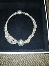 Pandora Chain Style Bracelet with Moon and Start Clip