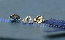 27d6e1928 Prong Setting Diamond 0.10ct 14k Solid Gold Stud Dainty Earrings