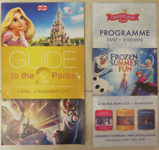 Disneyland PARIS Guidemap 2015 Map EURO Disney + Program Schedule RARE!