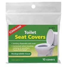 COUGLANS PK OF 10 BIODEGRADABLE SANITARY SELF FLUSHABLE TOILET SEAT COVERS
