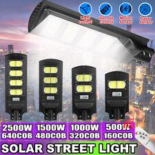 500/1000/1500/2500W FARO LAMPIONE STRADALE LED PANNELLO SOLARE CON SENSORE PIR