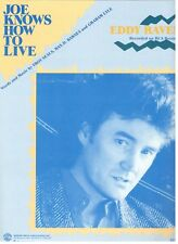 EDDY RAVEN-JOE KNOWS HOW TO LIVE--SHEET MUSIC-PIANO/VOCAL/GUITAR/CHORDS-1988-NEW