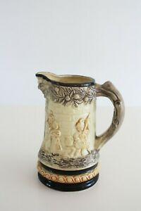 Vintage Ceramic German Style Beer Stein Pitcher Renaissance Dancing Scene Mug