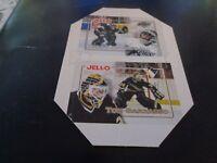 1995-96 Kraft/Jell-O Crease Keepers Minis - Hrudey - Kings / Barrasso  Penguins