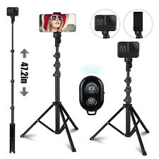 Selfie Stick Extendable Monopod Tripod Bluetooth Wireless Remote For Phone Camer