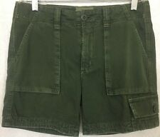 Current Elliott Shorts Dark Olive Cotton Cargo  Size 23