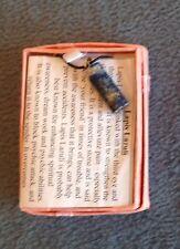 Lapis Lazuli Gemstone Cylinder Pendant in gift box - NEW - *Healing*