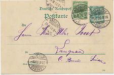 "DT.REICH ""MÜLHAUSEN / (ELSASS) 1"" K2 (MULHOUSE Frankreich) 5Pf grün Kab.-GA 1889"