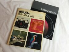 Vintage 1983 How to select & use Minolta Slr Cameras / plus Vivitar Lenses Info