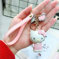 1PC Cute Hello Kitty Keychain fob Key Chain Pendant Keyring Lovely Gift For Girl
