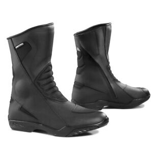 motorcycle boots | Forma Poker touring road street black waterproof riding gear