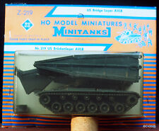1/87 h0 roco Minitanks z-219, US puentes tumbe tanques AVLB/Bridge Layer, rara vez
