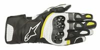 GUANTI MOTO ALPINESTARS GLOVES SP-2 V2 BLACK WHITE YELLOW FLUO PROTEZIONI CE
