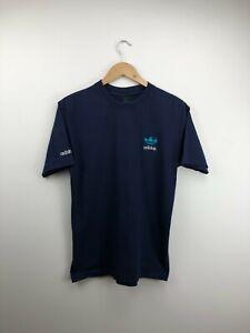 Vintage 90's Adidas Equipment T Shirt Top Tee Navy Logo Mens Medium