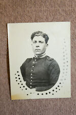 Original Ww1 Italian Army Soldier's Studio Photograph w/Writting to Back