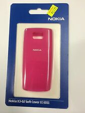 Nokia X3-02 Fitted Soft Cover in Pink CC-1011. Brand New in Original Packaging.