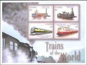 Gambia 2001 Steam Engines/Trains/Railways/Locomotives/Transport 4v m/s (s5709g)