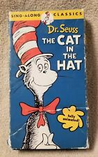 THE CAT IN THE HAT Dr. Seuss Sing-Along Classic VHS Video Tape 1971 Animated