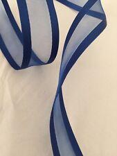"Blue WIRE EDGED RIBBON 1-1/2"" x 5 Yards"