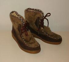 Snowland Vintage 1960's Fur Boots Sz 6