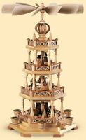 Pyramide Erzgebirgsmotiv 55cm 3-stöckig Kleinkunst Müller Fachhändler Erzgebirge