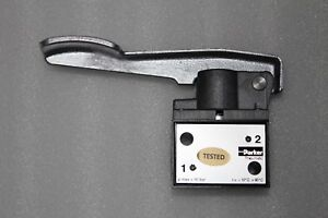 """PARKER B203E POPPET VALVE, HAND LEVER OPERATED 1/2"""" BSP 3 WAY 2 POSITION"""