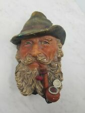 Vintage 1972 Bossons Head Tyrolean Man With An Eagle On the Pipe