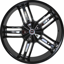 4 GWG Wheels 24 inch Black Chrome SPADE Rims fits GMC YUKON XL 1500 6 LUG 07-18