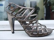 Gorgeous Silver Strappy Party Sandals- NEXT- Size 5