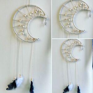 Crescent Moon Dream Catcher large