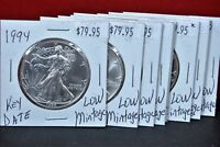 1994 Silver American Eagle BU Key Date Coin 1 oz. US $1 Dollar Uncirculated Mint