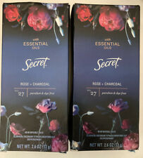 2 Secret Essential Oils Rose Charcoal Invisible Solid Antiperspirant No27