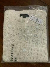 Brooks Brothers Womans White Sweater