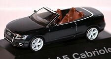 Audi A5 Cabriolet 8T 2009-11 IN pc-showcase Display Box Phantom Black Metal 1: