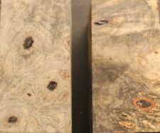 Bookmatched Stabilized Buckeye Burl for Knife Scales, Pistol Grips, etc (1590)