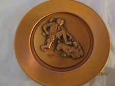 Vintage 1978 Norman Rockwell The Thief Copper Plate With Coa Sixth In Series