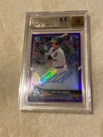 Greg Deichmann /250 *PURPLE REFRACTOR* 2018 Bowman Chrome Auto RC BGS 9.5/10